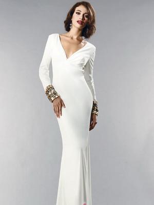 Белое вечернее платье 2016
