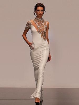Белое платье 2016 в вечернем варианте