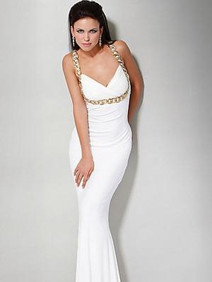 Белое платье 2016 из тонкого трикотажа