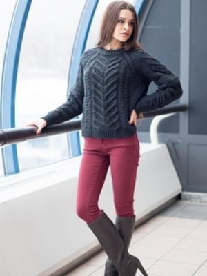 Бордовые джинсы осень-зима 2015-2016