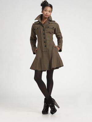 Женское драповое пальто в стиле 80-х осень-зима 2015-2016