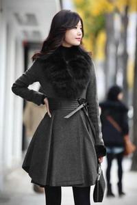 Драповое женское пальто осень зима 2015