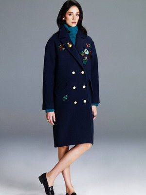 Драповое пальто осень-зима 2015-2016 в стиле гранж