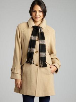 Драповое   пальто осень-зима 2015-2016  с шарфом