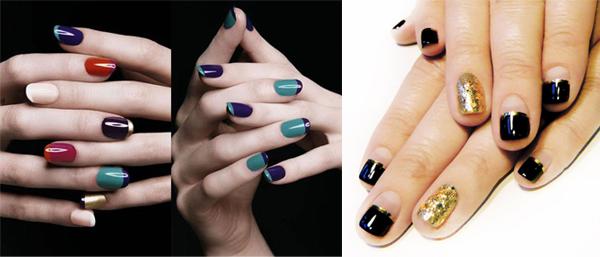 маникюр для коротких ногтей в модном стиле френч