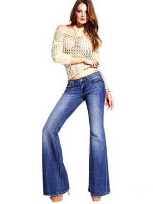 Как носить джинсы клёш