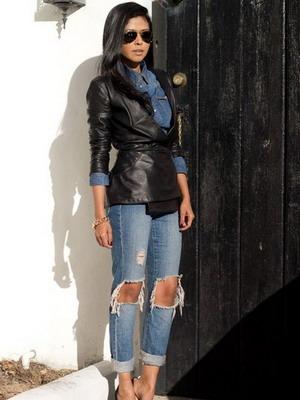 Красиво порезанные джинсы