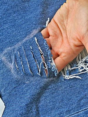 Правильно порезать джинсы