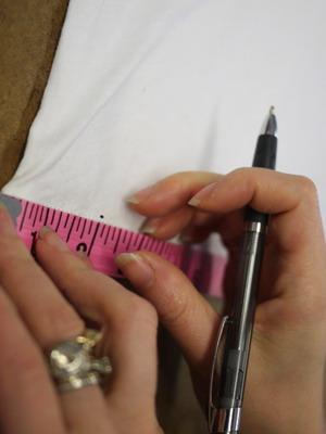 Мерки для украшения платья