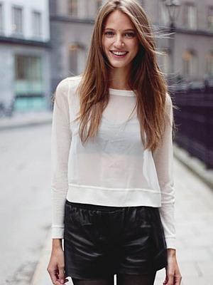 Модные кожаные шорты 2016
