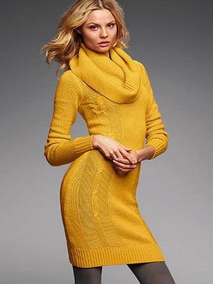 Вязаное платье 2015-2016  в стиле ретро