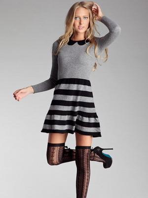 Вязанное платье сезона осень-зима 2015-2016 в новом образе