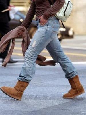 Угги и джинсы-отличный вариант