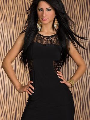 Модные короткие черные платья