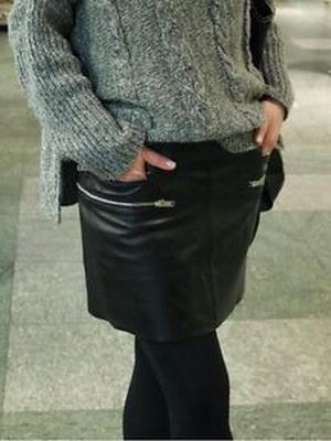 Декор кожаной юбки