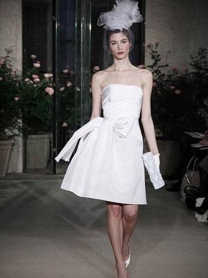 Свадебное короткое платье 2016