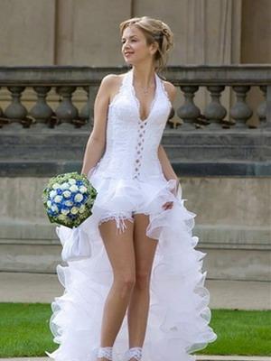 Свадебное секси платье 2016