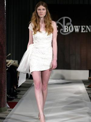 Укороченная модель свадебного платья 2016