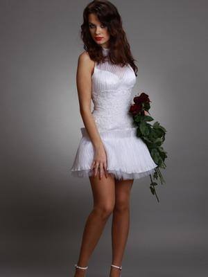 Короткое платье для свадьбы 2016
