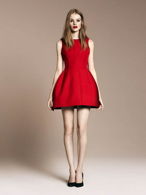 Красное платье - модный тренд 2016 года