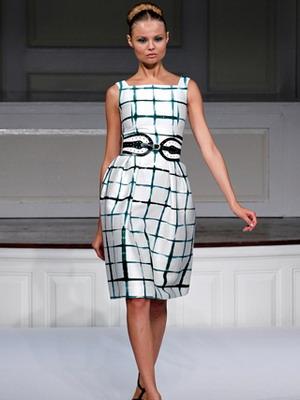 Летнее платье в клетку 2016