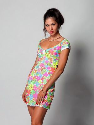 Летнее трикотажное платье 2016