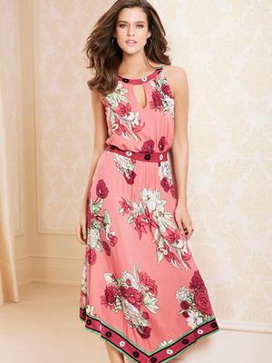 Весенне платье из трикотажа 2016