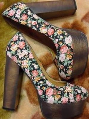Стильные туфли на толстом каблуке 2016