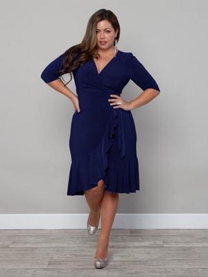 Платье для полных в всесеннем сезоне 2016