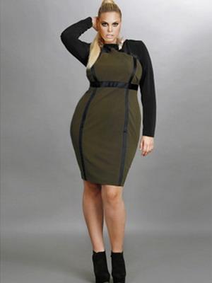 Осеннее платье для полных 2016