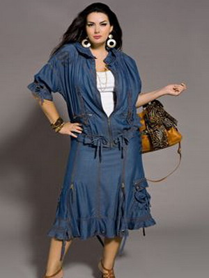 Стильная юбка для полных 2016
