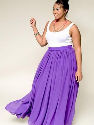Ярка модель юбки для полных 2016
