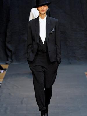 Женские костюмы в мужском стиле