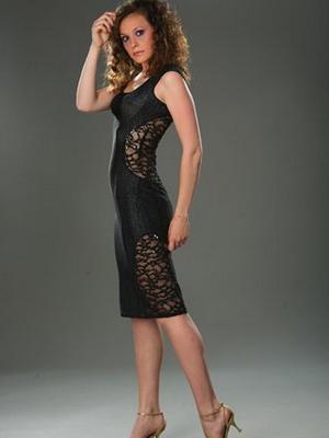 Черное платье в стиле Коко Шанель