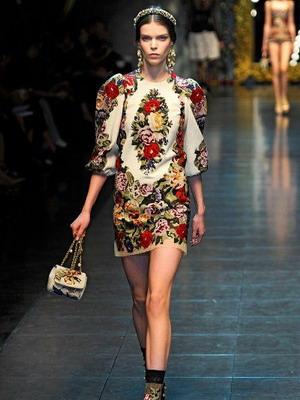 Модное народное платье в русском стиле