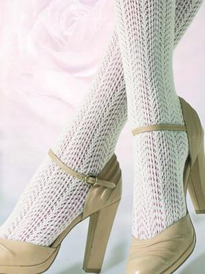 Как подобрать обувь под белые ажурные колготки