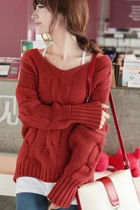 Вязаные женские свитера 2015