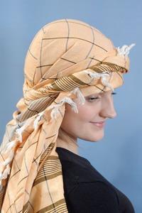Шарф арафатка на голове