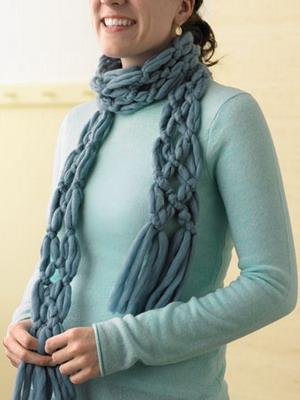 Как стильно  завязать шарф