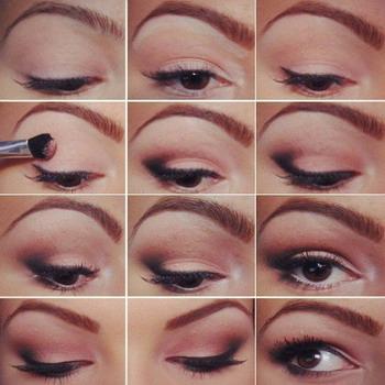 Пошаговый школьный макияж для карих глаз девочек