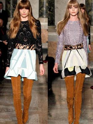 Модные теплые юбки на зиму 2015 года