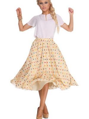 Туфли лодочки и юбка-колокол