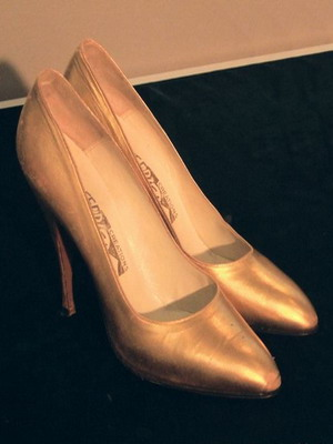 Туфли-лодочки из парчи