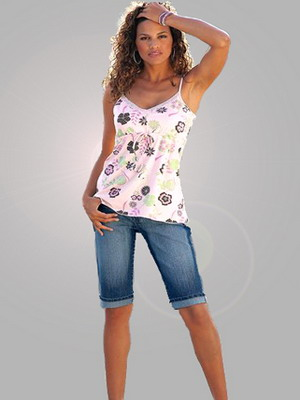 Длинные  модели женских шорт