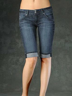 Длинные джинсовые модели женских шорт