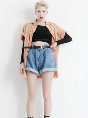 Модные женские шорты с высокой талией