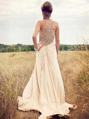Винтажное платье с отделкой
