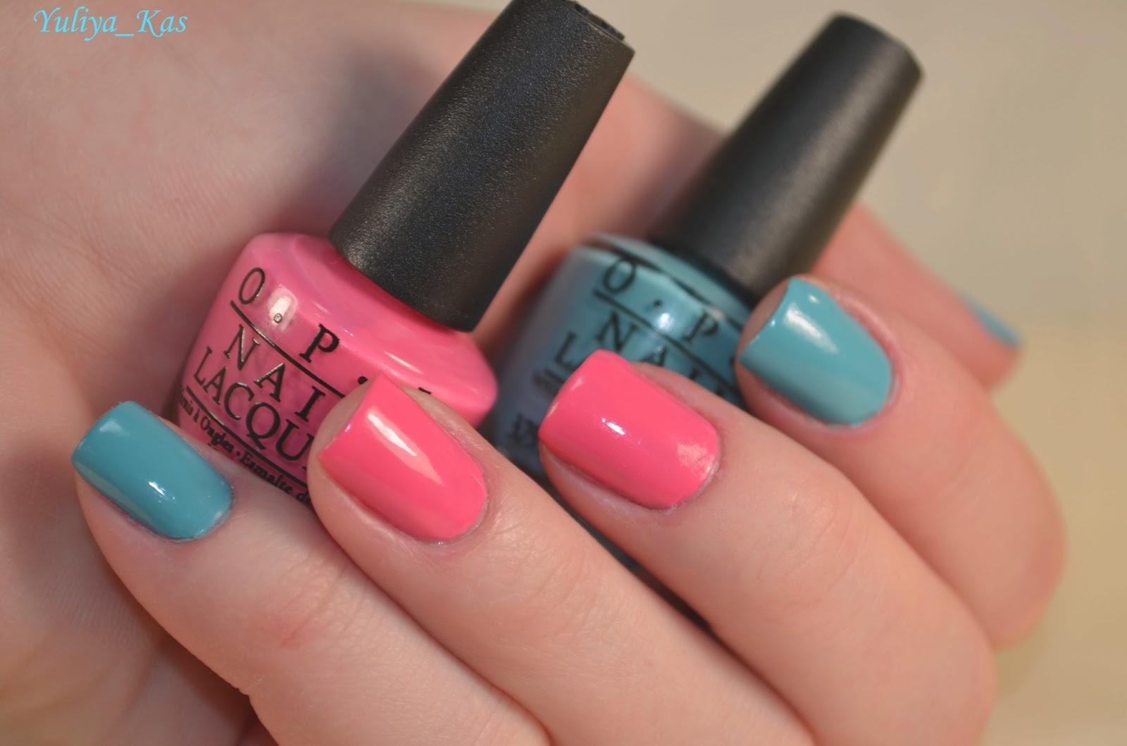 Как накрасить ногти двумя цветами контрастно