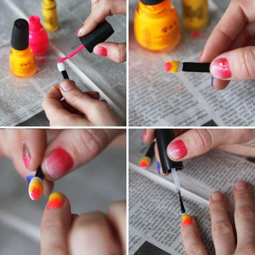 Как накрасить ногти двумя цветами с апликатором