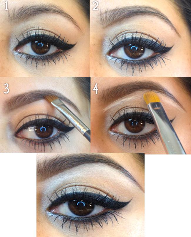как накрасить брови карандашом пошагово фото